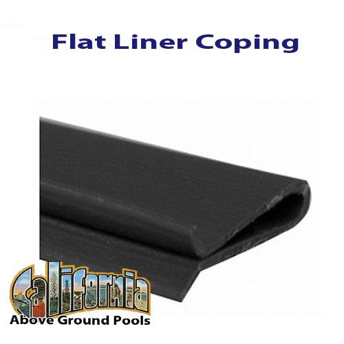 Flat Pool Liner Coping For California Above Ground Pools