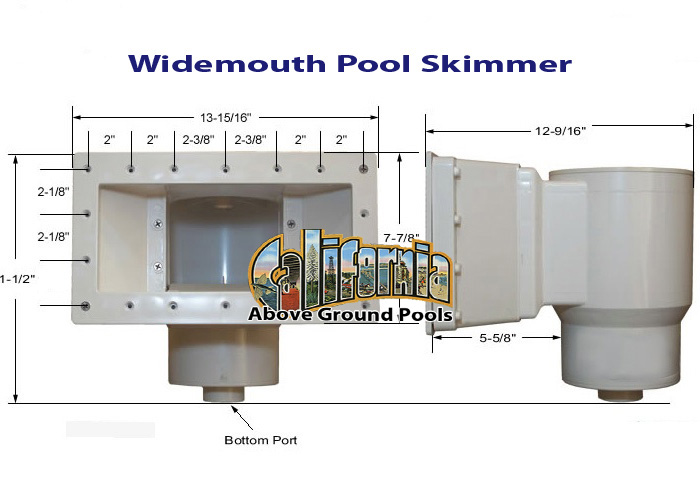 Widemouth Pool Skimmer For California Above Ground Pools